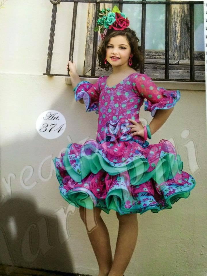 Vestidos de flamenca cortos de nina